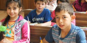Børn i skole i Mechka i Bulgarien