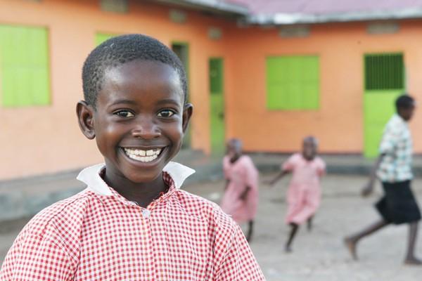 Barn i Kakundi-skolen i Uganda