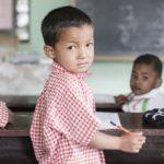 Børn i skole på børnehjemmet Albella Boys Home i Indien