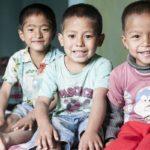 Børn på børnehjemmet Albella Boys Home i Indien