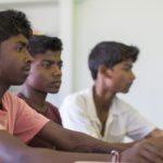 Drenge på børnehjemmet i Durgapur i Indien