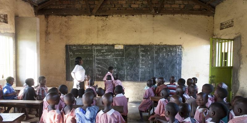 Undervisning på Senkadagala-skolen i Sri Lanka