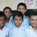 Børn i døveskolen ved Colombo i Sri Lanka