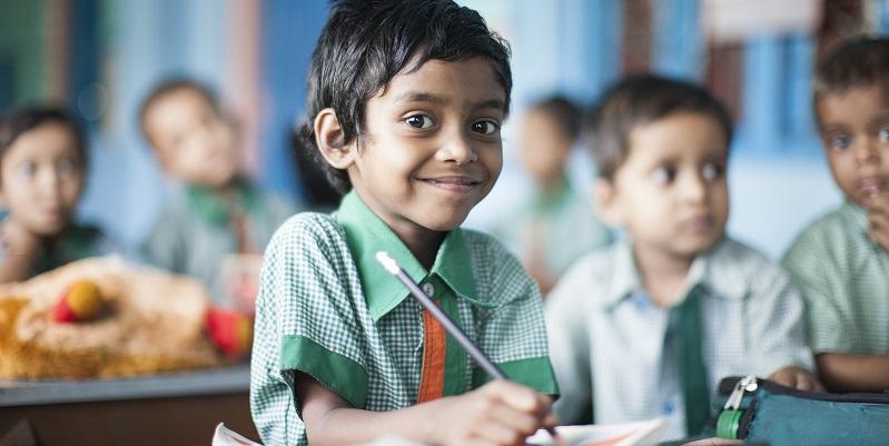 Børn på børnehjemmet Santibari i Indien