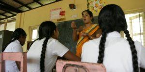 Undervisning på Senkadagala-skolen