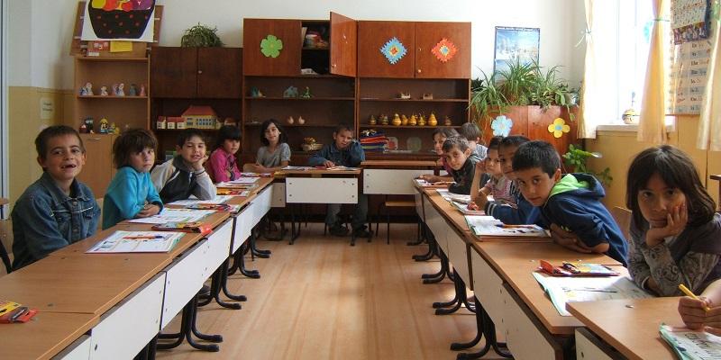 Første klasse i Mechka i Bulgarien