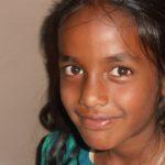 Barn på børnehjemmet Happy Home i Indien