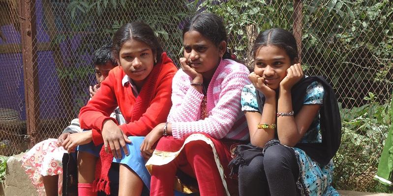 Søndagshyppe på børnehjemmet Happy Home i Indien