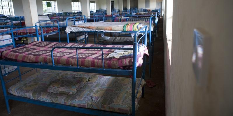 Sovesal på børnehjemmet i Mukono i Uganda