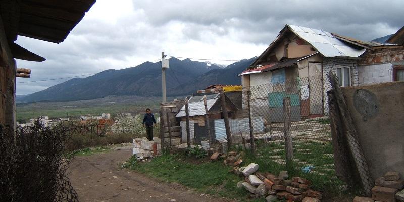 Romaområdet Mahala - Dupnitsa i Bulgarien