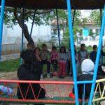 Undervisning i haven i Dupnitsa i Bulgarien