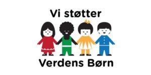 Vi støtter Verdens Børn - logo